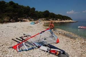 Windsurfing, kitesurfing
